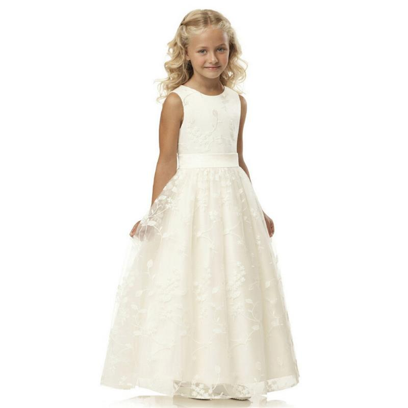 Cheap ivory flower girl dress